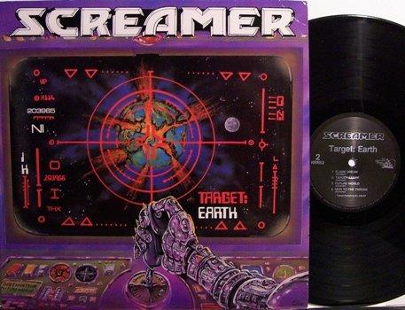 Screamer - Target Earth - Vinyl LP record + Insert - Rock