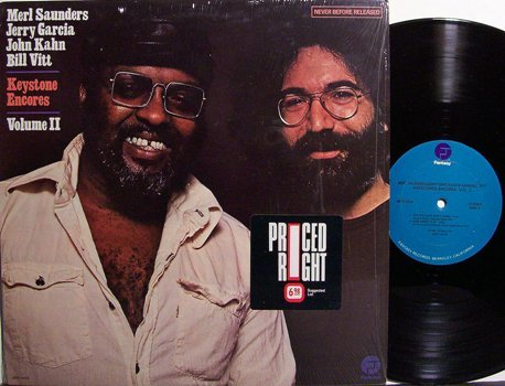 Saunders, Merl / Jerry Garcia - Keystone Encores Volume II - Vinyl LP Record - Rock