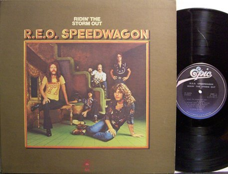 REO Speedwagon Ridin The Storm Out Vinyl LP Record Rock