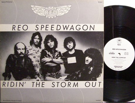 "REO Speedwagon - Ridin' The Storm Out - Promo Only 12"" Vinyl Single Record - Rock"