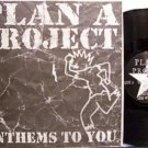 "Plan A Project - Anthems To You - Vinyl 10"" LP Record + Insert - Rock"