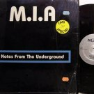 M.I.A. - Notes From The Underground - Vinyl LP Record - MIA - Rock