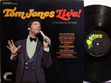 Jones, Tom - Live At The Talk Of The Town - Vinyl LP Record - Pop Rock