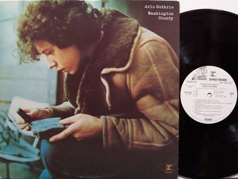 Guthrie, Arlo - Washington County - White Label Promo - Vinyl LP Record - Rock