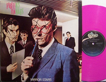 Fabulous Poodles, The - Mirror Stars - Pink Colored Vinyl - Promo Only LP Record - Rock