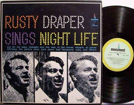 Draper, Rusty - Sings Night Life - Vinyl LP Record - Country Pop