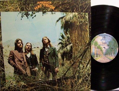 America - Hat Trick - Vinyl LP Record - Rock
