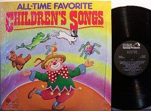 All Time Favorite Children's Songs - Vinyl 2 LP Record Set - Children Kids