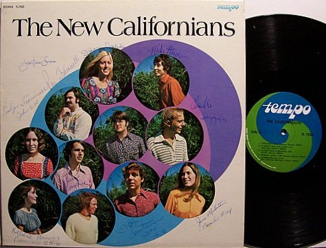 New Californians, The - Self Titled - Signed - Vinyl LP Record - Christian Gospel