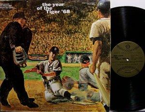 Detroit Tigers - Year Of The Tiger '68 - Vinyl LP Record - Baseball Sports