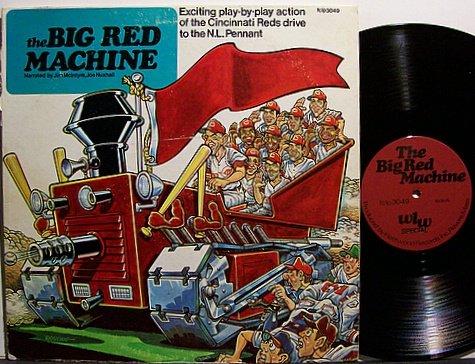 Cincinnati Reds The Big Red Machine Vinyl Lp Record