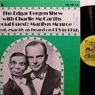 Monroe, Marilyn - Edgar Bergen Show May 3, 1942 - Vinyl LP Record - Odd Unusual Weird