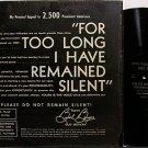 Berman, Bud - Anti Vietnam War Speech - Vinyl LP Record - Odd Unusual Weird
