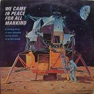 Apollo / Moon - We Came In Peace For All Mankind - Sealed Vinyl LP Record - Space Travel