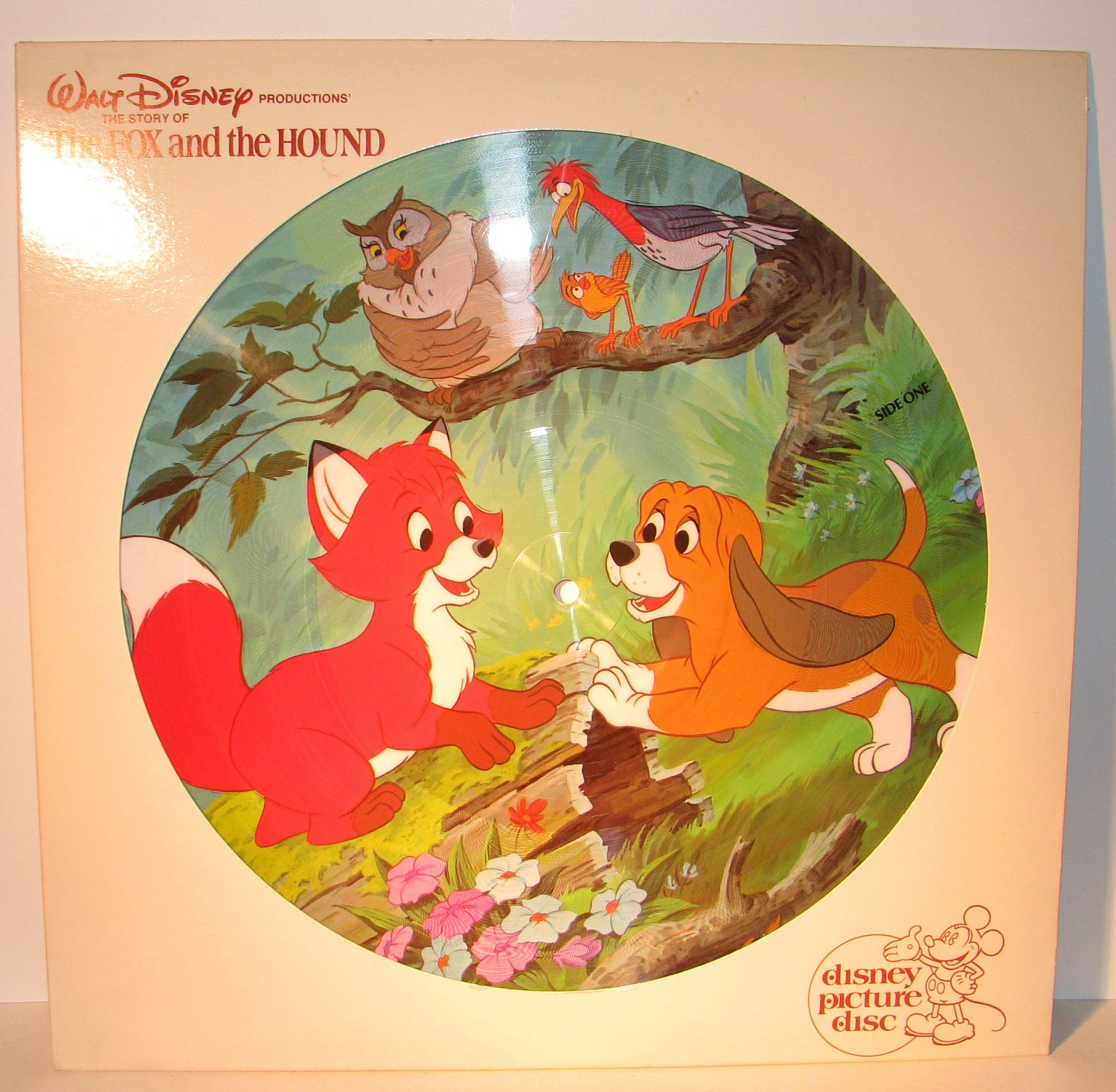 Disney Walt The Fox And The Hound Picture Disc Vinyl