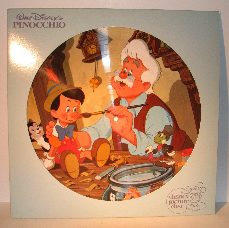 Disney Walt Pinocchio Picture Disc Vinyl Lp Record