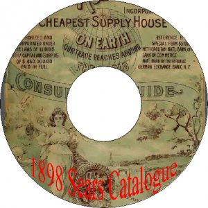 1898 Number 107 Sears Roebuck Old Vintage Consumer Guide Catalogue Book on CD