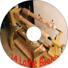 14 Ebooks How To Use A Woodturning Lathe, Planer And Tools On A CD