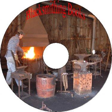 40 Vintage Books On Blacksmithing Forging Metals Tools Machinery CD