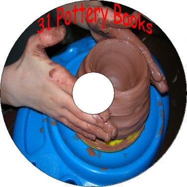 31 Pottery Books How To Make Paint Glaze Kiln Ceramics China On CD Clay Enamel