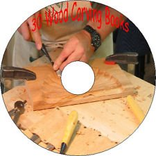 30 Old Books Wood Carving Engraving Sculpturing Fret Sawing How to Guide CD