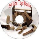 34 Old Vintage Books How to Make Kids Toys Wood Cardboard Tin Metal CD