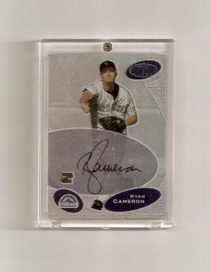 2003 Bowman's Best Ryan Cameron Autographed card - Rockies