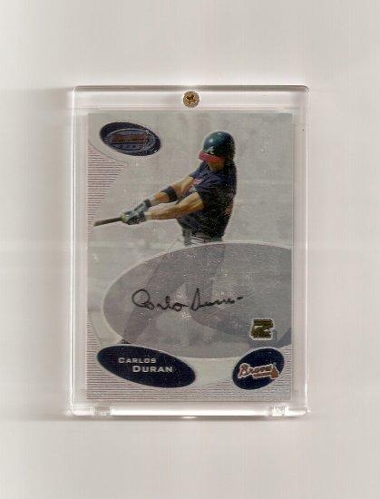 2003 Bowman's Best Carlos Duran autographed card - Braves