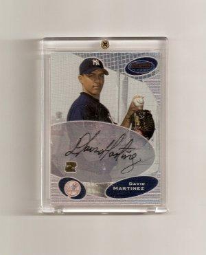 2003 Bowman's Best David Martinez autographed card - Yankees