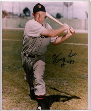George Kell Authentic Autopraphed 8x10 with #'d COA