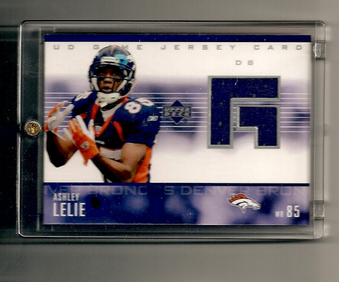 2003 Upper Deck Ashley Lelie UD Game Jersey card - Broncos