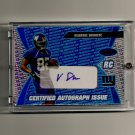 2003 Bowman's Best Certified Autograph Issue BLUE Visanthe Shiancoe Rookie card #'d 063/499 - Giants