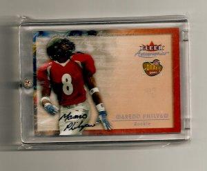 2001 Fleer Autographics Draft 2000 Mareno Philyaw Autographed Rookie card -
