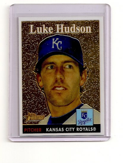 2007 Topps Heritage Chrome Luke Hudson card# THC71 serial #'d 0725/1958
