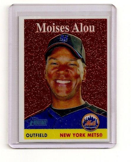 2007 Topps Heritage Chrome Moises Alou card# THC31 serial #'d 1131/1958