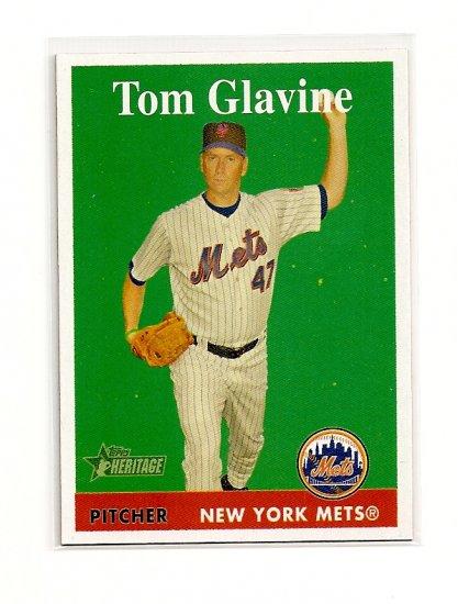 2007 Topps Heritage Tom Glavine card# 270 - Mets