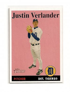 2007 Topps Heritage Justin Verlander card# 296 - Tigers