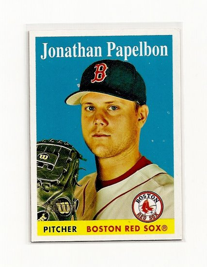 2007 Topps Heritage Jonathan Papelbon card# 361 - Red Sox