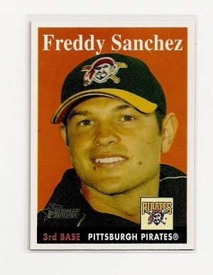 2007 Topps Heritage Freddy Sanchez card# 303 SP - Pirates