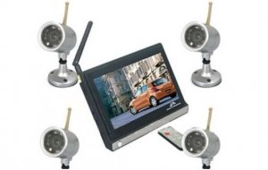 2.4GHz Wireless Security Systems , 7-inch Digital Color TFT LCD