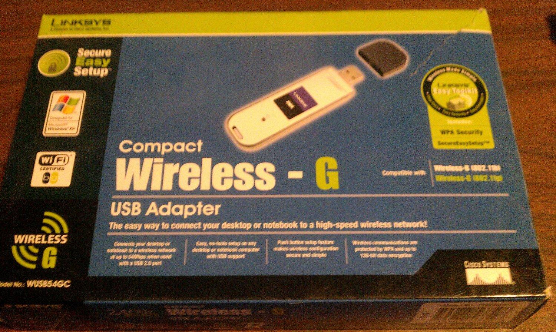 Linksys Wireless 802.11 G USB Adapter WUSB54GC