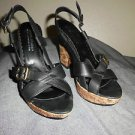DONALD J PLINER  Open Toe Slingback Platform SHOES, SIZE 6 1/2 M MADE IN ITALY