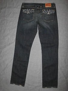 Lucky Brand Women's Jeans, LOLA STRAIGHT, Size 30 X 32 in OL DARK CADDY Wash.
