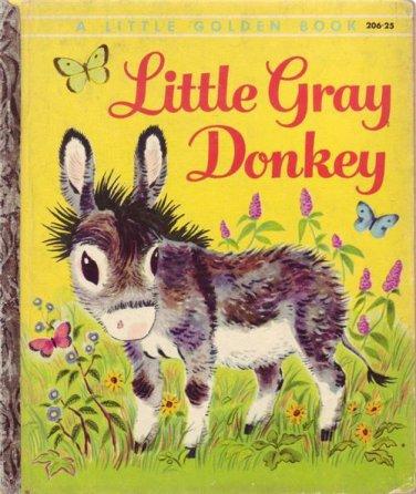 Little Gray Donkey Little Golden Book 206-25 by Alice Lunt 1954 1st Ed
