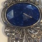 Exquisite Vintage Select Diamonds & Gems Platinum Sterlg Silver Blue Lapis Lazuli Marcasite Earrings