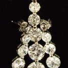"""Elegant Cubic Zirconia Sterling Silver Earrings Necklace Set with 1.25"""" Pendant"""