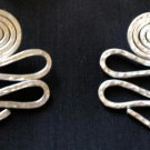 Swivel and Swirl Post Earrings (or clip-on)