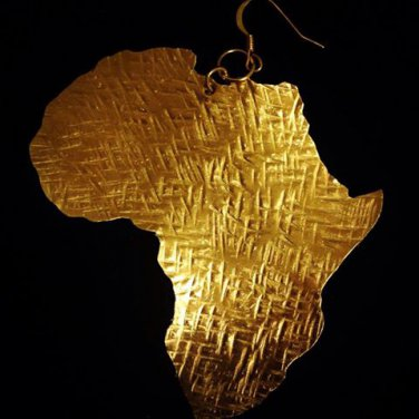 Africa Earrings (Medium Bronze)