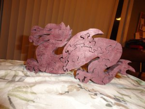 Chinese wooden dragon puzzle