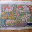 Jungle Needlepoint Canvas Elephants Giraffes Springbok Zebra